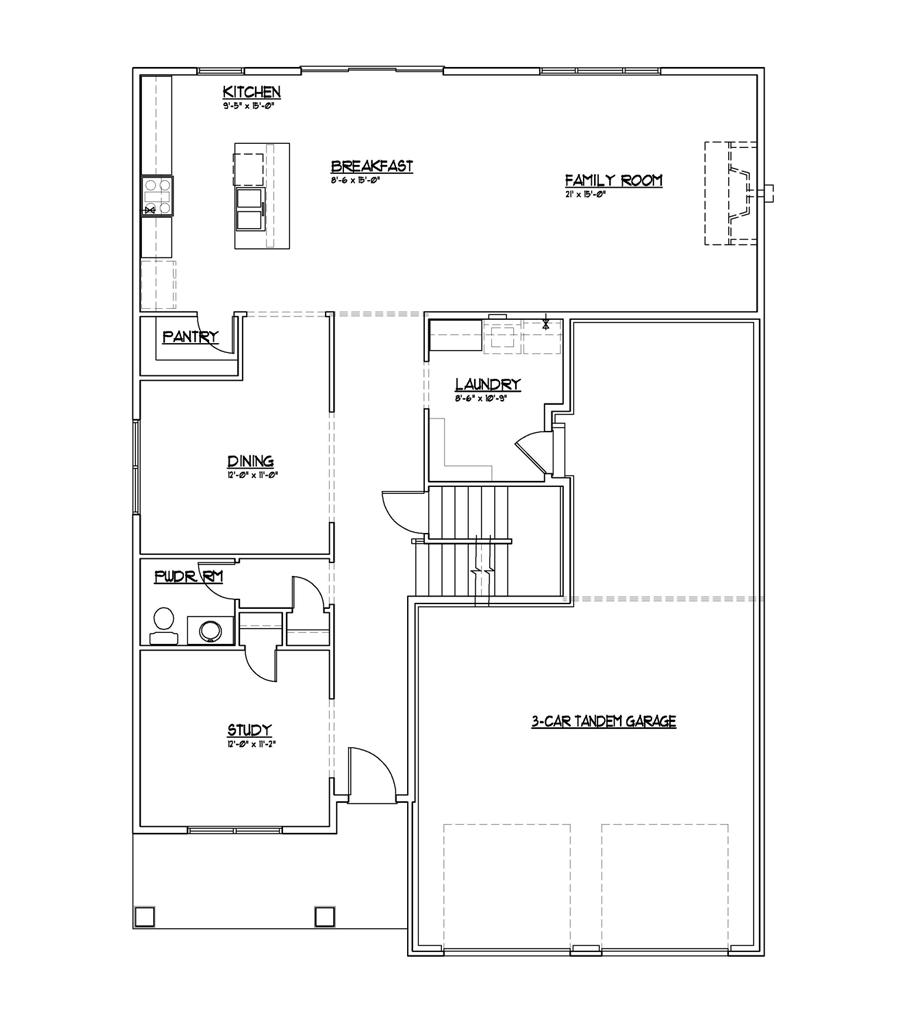 Eagle St Floor Plans - Main Floor